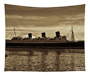 Queen Mary In Sepia Tapestry