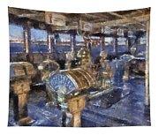 Queen Mary Ocean Liner Bridge 01 Photo Art 02 Tapestry
