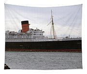 Queen Mary Ocean Liner Starboard Side 05 Long Beach Ca Tapestry