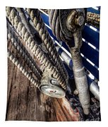 Queen Mary Ship Turnbuckle Tapestry