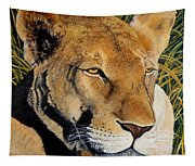 Queen Of The African Savannah Tapestry