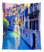 Quiet Morning In Venice Tapestry