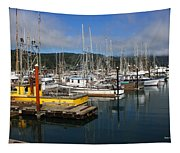Quiet Time At The Harbor Tapestry