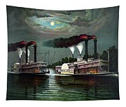 Race Of The Steamers Robert E Lee And Natchez Tapestry