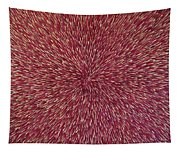 Radiation With Brown Magenta And Violet  Tapestry