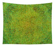 Radiation With Green Yellow And Orange  Tapestry