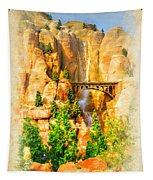 Radiator Springs Waterfall Tapestry