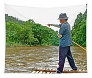 Rafting Guide On Mae Thang River Near Chiang Mai-thailand Tapestry