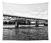 Railroad Bridge Over The Schuylkill River In Norristown Tapestry