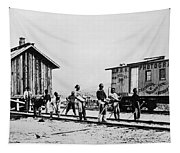 Railroad Chinese Workers Tapestry