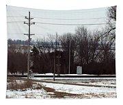 Railroad Crossing Tapestry