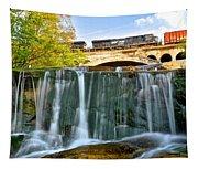 Railroad Waterfall Tapestry