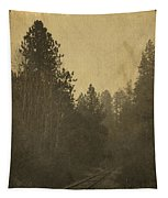 Rails In The Rogue Valley - Vintage Effect Tapestry