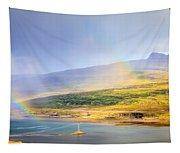 Rain Over Fjords Tapestry