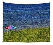 Rainbow Beach Umbrella Tapestry