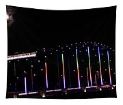 Rainbow Bridge And Super Moon Tapestry