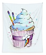 Rainbow-dash-themed Cupcake Tapestry by Olga Shvartsur