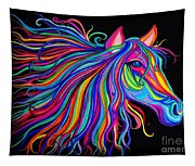 Rainbow Horse Too Tapestry