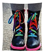 Rainbow Laces Tapestry
