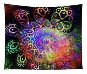 Rainbow Leopard Tapestry