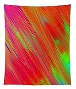 Rainbow Passion Abstract Upper Left Tapestry