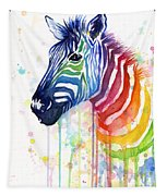 Rainbow Zebra - Ode To Fruit Stripes Tapestry