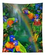 Rainbows In Paradise Tapestry
