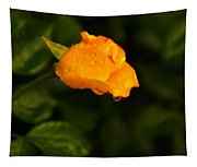 Raindrops On A Yellow Rose Tapestry