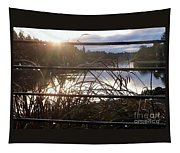 Raindrops To River Sunrise Tapestry