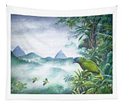 Rainforest Realm - St. Lucia Parrots Tapestry