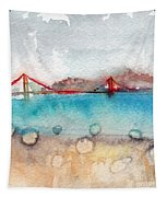 Rainy Day In San Francisco  Tapestry by Linda Woods