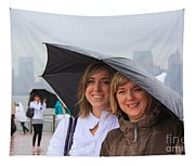 Rainy Day In The Big City Tapestry