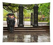 Rainy Destination Wedding In Jackson Square New Orleans Tapestry