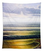 Rainy Seascape Tapestry