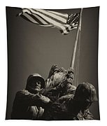 Raising The Flag On Iwo - Front Tapestry