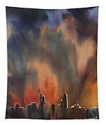 Raleigh Thunderstorm Tapestry