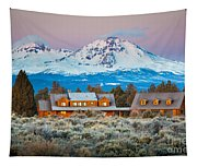 Ranch House And Sisters Tapestry