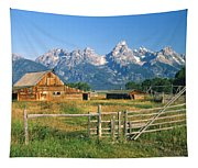 1m9392-ranchland And The Tetons Tapestry