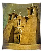 Ranchos Church In Old Gold Tapestry