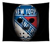 Rangers Goalie Mask Tapestry