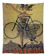 Rare Vintage Paris Cycle Poster Tapestry