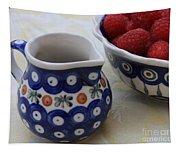 Raspberries With Cream Tapestry