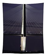 Ravenel Bridge Night View Tapestry
