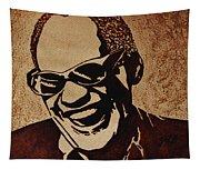 Ray Charles Original Coffee Painting Tapestry