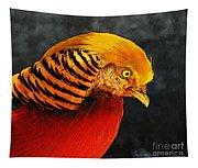 Read And Yello Bird Tapestry