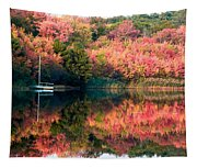 Ready To Sail In The Fall Colors Tapestry