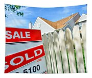 Real Estate Sold Sign Tapestry