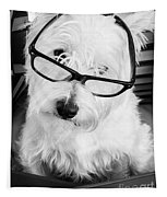 Really Portait Of A Westie Wearing Glasses Tapestry