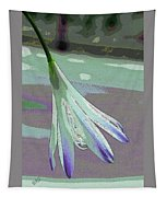 Reclining Lily Abstract Tapestry