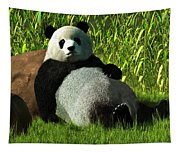 Reclining Panda Tapestry
